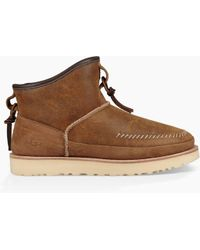 7c86370530a UGG Leather Men's Campfire Pull-on Boot in Brown for Men - Lyst