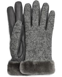 UGG Fabric Leather Shorty Handschuhe für aus Leder - Grau