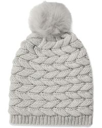 UGG Cable Hat With Pom Cable Hat With Pom - Gray