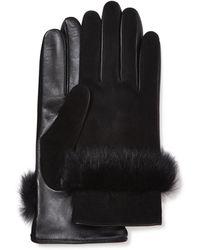 UGG Suede Leather And Sheepsk - Schwarz