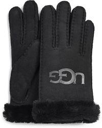 UGG Sheepskin Logo Handschoenen - Zwart