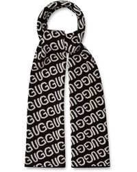 UGG Logo Knit Scarf - Black