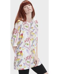 UGG Basia T-shirt, Size Large, Cotton Blend - Multicolor