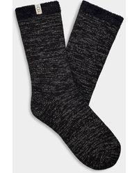 UGG Josephine Sparkle Fleece Socks - Black