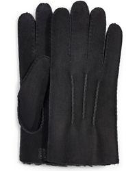 UGG Contrast Sheepskin Handschoenen - Zwart