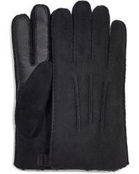 UGG Contrast Sheepskin Tech Glove - Black