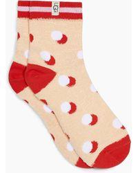 UGG Gretchen Quarter Sock - Red