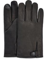 UGG Tabbed Splice Leather Glove - Black