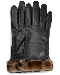 UGG Classic Leather Shorty Tech Glove Classic Leather Shorty Tech Glove - Black