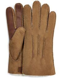 UGG Sheepskin Side Tab Tech Glove - Brown