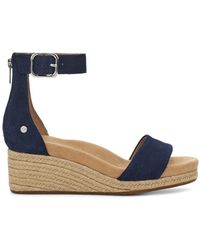 UGG Zoe Ii Suede Wedge - Blue