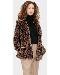 UGG Rosemary Faux Fur Jacket - Brown