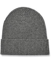 UGG Wide Cuff Rib Hat Wool Blend Hats - Grey