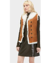 72a731c0b39 Renee Toscana Shearling Vest - Brown