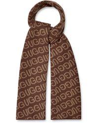 UGG Logo Knit Scarf - Brown