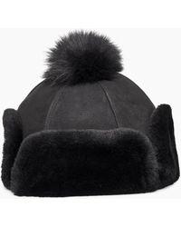 UGG Up Flap Hat - Black