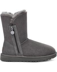 UGG Bailey Zip Short Stiefel für aus Schaffell - Grau