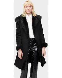 UGG Vanesa Toscana Shearling Coat - Black