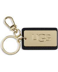 UGG Leather Tag Sleutelhangers - Zwart