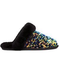 UGG Scuffette Ii Sequin Sheepskin Slippers - Black