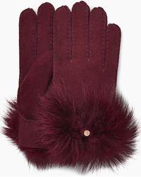 UGG - Women's Long Pile Bow Glove - Lyst