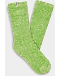 UGG Pride Leda Cozy Sock Polyester Blend Socks - Green