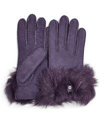 UGG Long Pile Bow Handschuhe Stiefel für - Lila