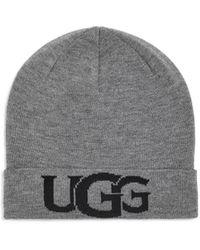 UGG - Intarsia Logo Knit Chapeaux pour - Lyst