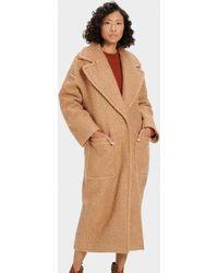 UGG Hattie Long Oversized Coat Faux Fur - Brown