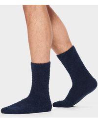 UGG Fincher Ultra Cozy Crew Polyester Blend Socks - Blue