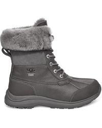 UGG Winterstiefel Adirondack III Warme Stiefel für aus Leder in Charcoal Größe 40 - Grau