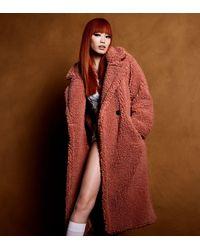 UGG Gertrude Long Teddy Coat pour - Multicolore