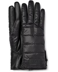 UGG Sherpa Fabric Glove W/ Zipper - Black