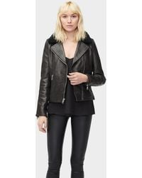 UGG - Women's Andee Leather Cycle Jacket - Lyst