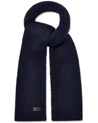 UGG Ribbed Knit Stripe Scarf - Blue