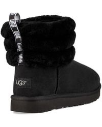 UGG Fluff Mini Quilted Bottes Classic pour - Noir