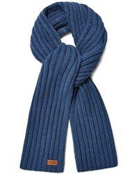UGG Diagonal Ribbed Stripe Schal für - Blau