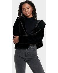 UGG Mandy Faux Fur Hoodie - Black