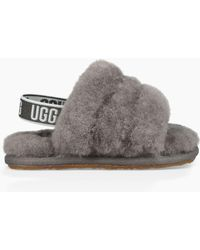 4f457d301 UGG Fluff Yeah Slides in Gray - Save 29% - Lyst