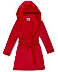 UGG Miranda Fleece Robe Polyester - Red