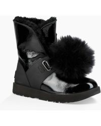 3b76be3e7f3 UGG Isley Waterproof Patent Leather Boot in Black - Lyst