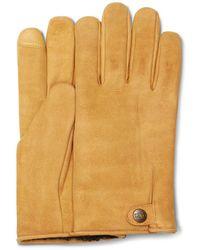 UGG Tabbed Splice Leather Handschuhe für aus Leder - Braun