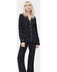 UGG Raven Set Silk Pyjama's - Zwart