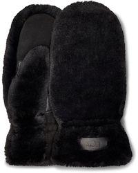 UGG All Over Faux Fur Handschoenen - Zwart
