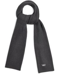 UGG Rib Knit Scarf - Black