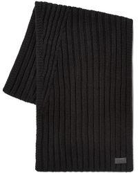 UGG Diagonal Ribbed Stripe Sjaals - Zwart