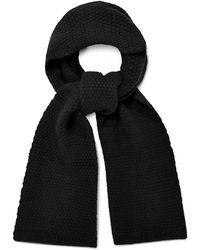 UGG Hendrix Popcorn Stitch Scarf Cashmere - Black