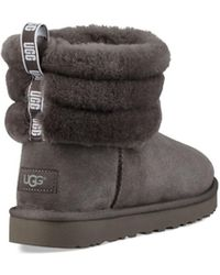 UGG Bottines Fluff Mini Quilted - Gris