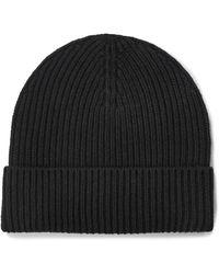 UGG Wide Cuff Rib Hat Wool Blend Hats - Black