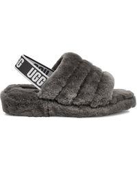 UGG Slipper mit Slingback-Knöchelriemen - Grau